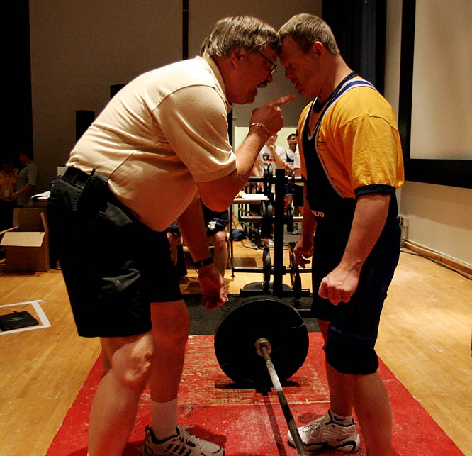 Photographer Lynn Johnson attended the New Jersey and Ohio statewide Summer Games, both of which were held in June 2008. By portraying the tenacity of athletes like John Holmes, who represented Hamilton County (Ohio) as a powerlifter, and the dedication of coaches like Rick Stolze, Johnson was able to capture the humanity, commitment and spirit of competition present at Special Olympics events.