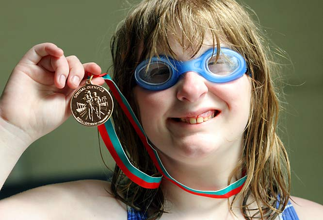 She only began swimming competitively in 2007, but already Alyssa Bohner, 13, is a gold medalist (she won gold and bronze at the Games in New Jersey).