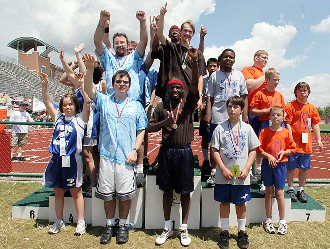 Track and field athletes celebrated after competing at Ohio State, which hosted the opening ceremonies and competitions for all but two of the 12 sports offered at the Ohio Games (bowling and roller-skating were off-campus).