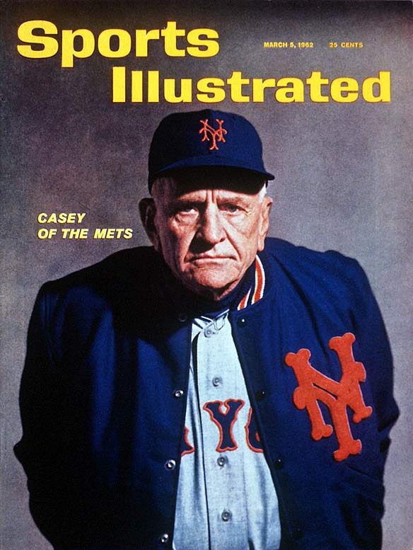 Casey Stengel's first Mets club posted a 40-120 record, and finished its expansion season 60.5 games out of first place. Things were bad from the start; the first run allowed in Mets history was scored on a balk, opening the door to a nine-game losing streak to begin the season. The '62 Mets also featured catcher Harry Chiti, who was acquired for a player to be named later. After Chiti posted a .195 average in 15 games, the Mets sent him back to the Indians, making him the first player traded for himself.