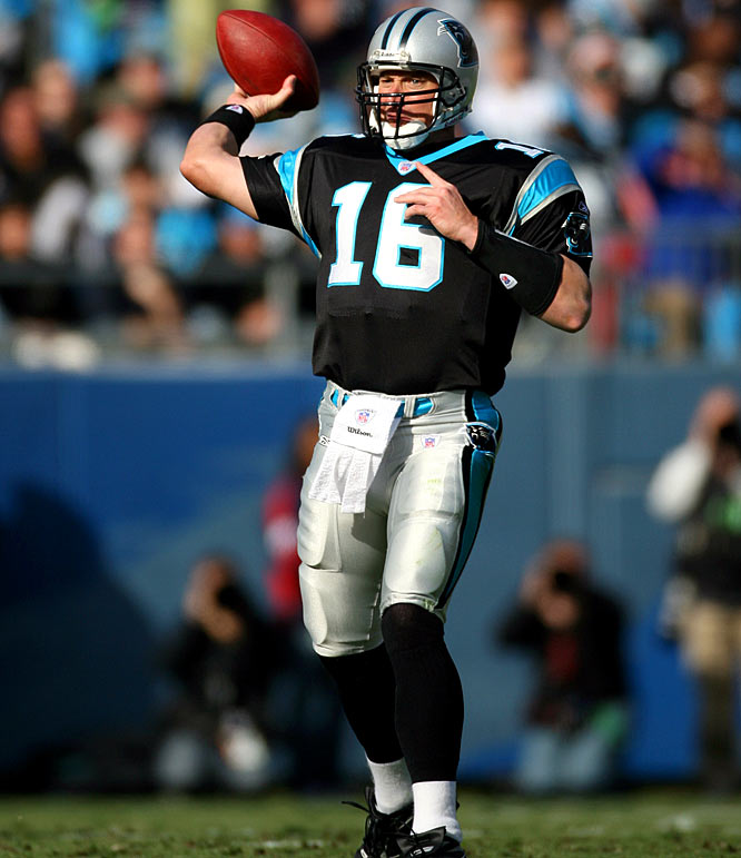 After releasing two quarterbacks before the season started (veteran Steve Beuerlein and Jeff Lewis), the Panthers turned to Heisman Trophy-winner Chris Weinke. Carolina got off to a quick start with a Week 1 victory over the Vikings, before dropping its next 15 games, setting a record for most consecutive losses in a season.