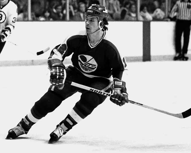"The Jets set an NHL and modern major pro sports record by going 30 games without a win during the 1980-81 season. In fact, fans across hockey took to calling them ""Lose-ipeg,"" an appropriate term for a team that finished with a 9-57-14 record. Morris Lukowich was one of the very few bright spots for the club, notching 33 goals and 34 assists for the season."