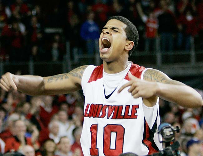 After Louisville squeaked by Kentucky on Sunday, Edgar Sosa (pictured) may have won his way out of Rick Pitino's doghouse. But he'll have to come up big if  the Cards are to overcome Dante Cunningham and the 12-2 Wildcats.