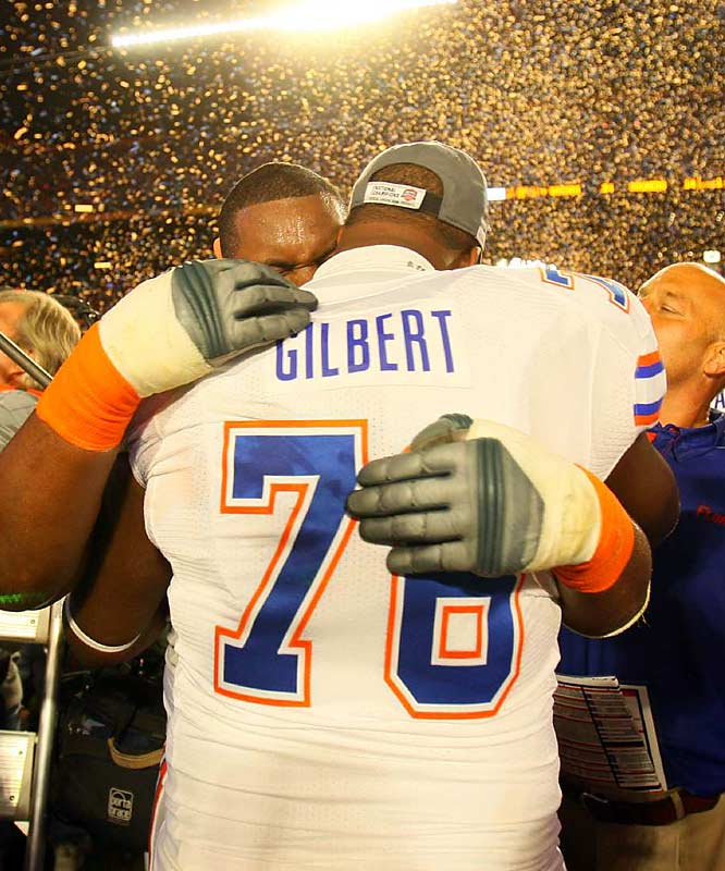 The champion Gators had plenty to smile about in the BCS title game, particularly holding the Sooners to 40 points under their season average.