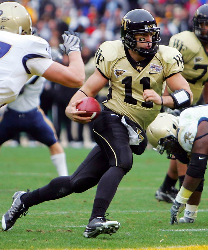 Wake Forest avenged an error-filled September loss to the Middies, earning its eighth win of the season. Demon Deacons QB Riley Skinner went 11-for-11 and threw the go-ahead touchdown.