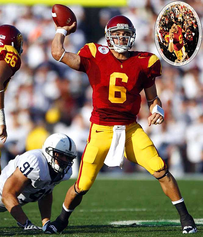 "Once again, the Trojans embarrassed a Big Ten opponent in the comfortable confines of the Rose Bowl. USC rampaged past Penn State, holding a 31-7 lead at the half. Trojans QB Mark Sanchez enjoyed the best game of his USC career, completing 28 of 35 passes for 413 yards and four touchdowns. Following the game, Pete Carroll repeatedly expressed one opinion: ""I don't think anybody can beat the Trojans."""