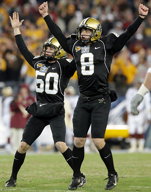 Vandy won its first bowl game in 53 years, giving the Commodores their first winning season since 1982. Bryant Hahnfeldt kicked the go-ahead, 45-yard field goal with 3:26 remaining, and the 'Dores defense got the job done down the stretch.