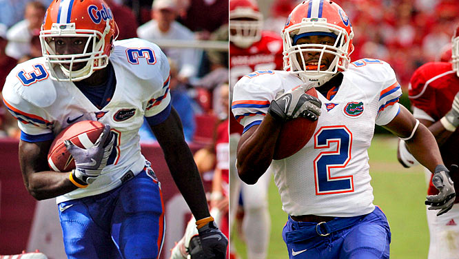 One week after losing to Ole Miss, the Gators turned to the ground game, racking up 278 yards rushing against the Razorbacks. Speedy running backs Chris Rainey and Jeff Demps both broke out, rushing for 103 yards apiece. The Gators earned a seventh straight win against Arkansas.