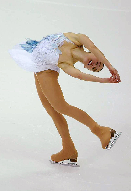 Alissa Czisny, seen here in the short program, won the women's title.