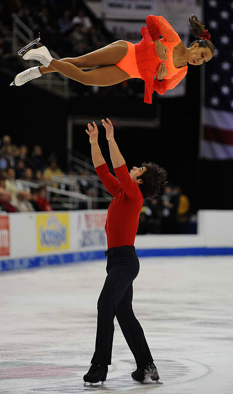Keauna McLaughlin and partner Rockne Brubaker became the U.S. pairs champions for a second consecutive year.