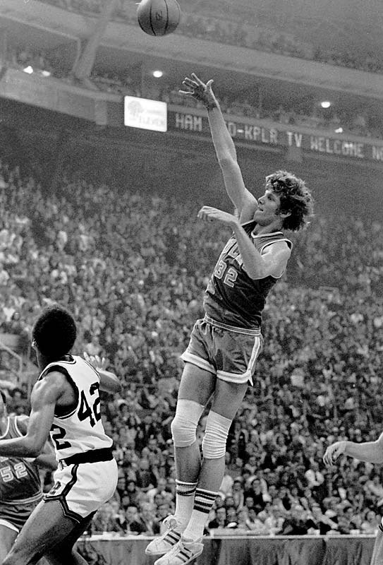 The UCLA Bruins, led by Bill Walton, win their 61st consecutive game to break the NCAA record held by the University of San Francisco.