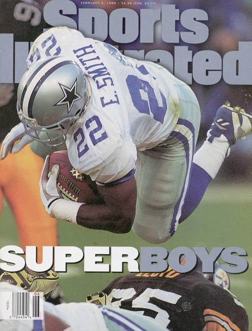 Dallas becomes the first team in NFL history to win three championships in a four-year period by defeating Pittsburgh, 27-17, in Super Bowl XXX.