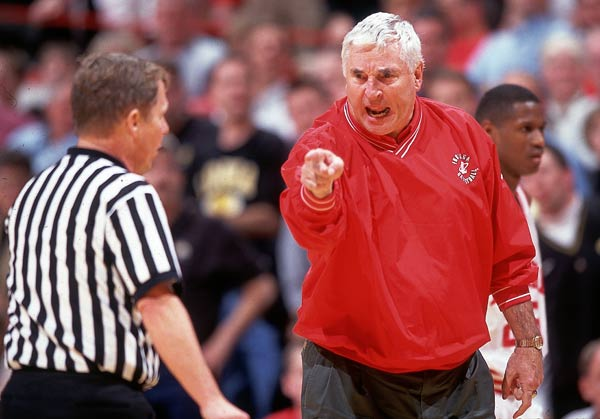 Indiana's Bobby Knight wins his 500th game as a college basketball coach.
