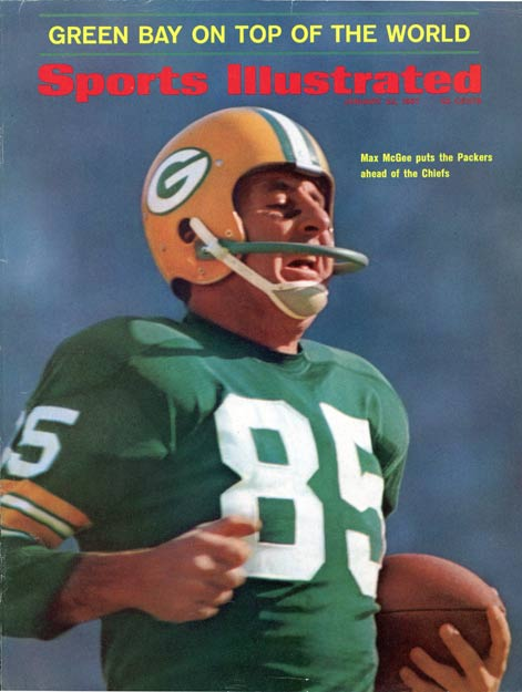 In the NFL's first Super Bowl, the Green Bay Packers defeat the AFL's Kansas City Chiefs, 35-10. The game is televised by both CBS and NBC.