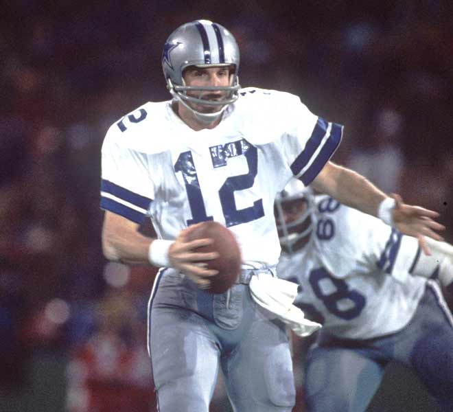 Roger Staubach completes 12 of 19 passes with a pair of touchdowns to lead the Dallas Cowboys to a 24-3 victory over the Miami Dolphins in Super Bowl VI.