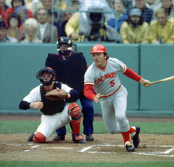 "A key piece of the ""Big Red Machine"" teams of the 1970s, Bench was a 14-time All-Star, 10-time Gold Glove winner and two-time NL MVP. He hit 389 career home runs and received more Hall of Fame votes than any other catcher, appearing on 431 of 447 ballots in 1989."