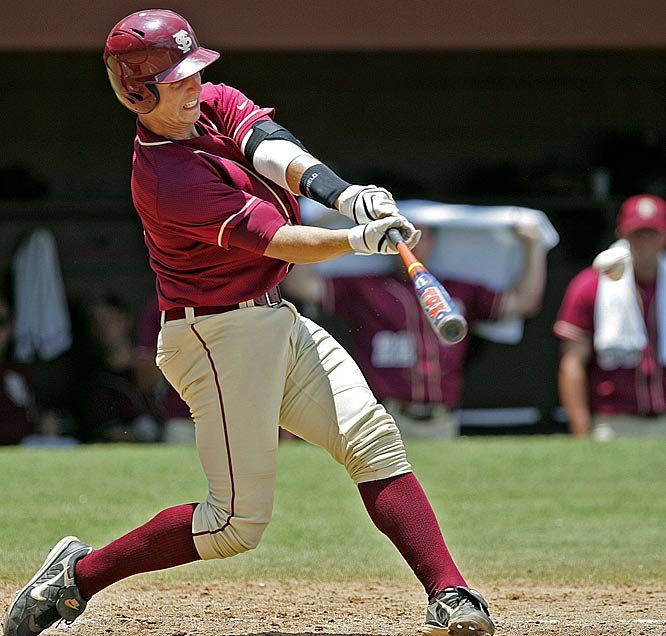 The fifth overall pick in the 2008 draft, Posey won the Golden Spikes Award as a Junior at Florida State when he led the ACC in batting average (.471), RBIs (68), on-base percentage (.571), slugging percentage (.858), hits (96), runs scored (75) and total bases (175).