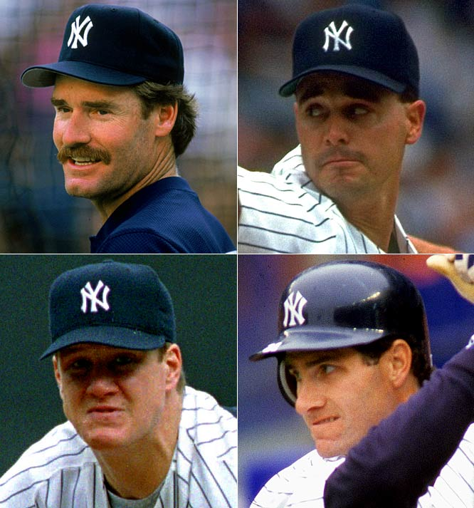 For 1993: <br>The Yankees elevate Boston's blood pressure by signing perennial Red Sox batting champion Wade Boggs for three years at $11 million. Starting pitcher Jimmy Key signs for four years at $17 million while outfielder Paul O'Neill (Cincinnati) and pitcher Jim Abbott (Angels) arrive via trades.