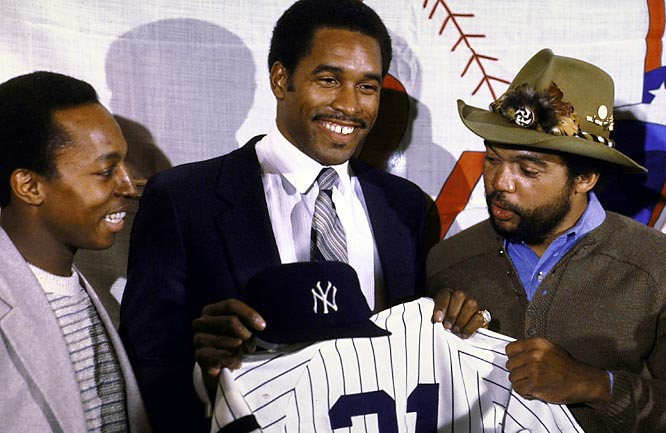 "For 1981: <br>Determined to get back to the World Series for the first time in three years, the Yankees make a huge splash by signing former Padres slugger and All-Star outfield Dave Winfield to a monster 10-year deal worth $23 million. Winfield will famously go on to be labeled ""Mr. May"" by Steinbrenner for his postseason struggles, including a particularly miserable World Series."