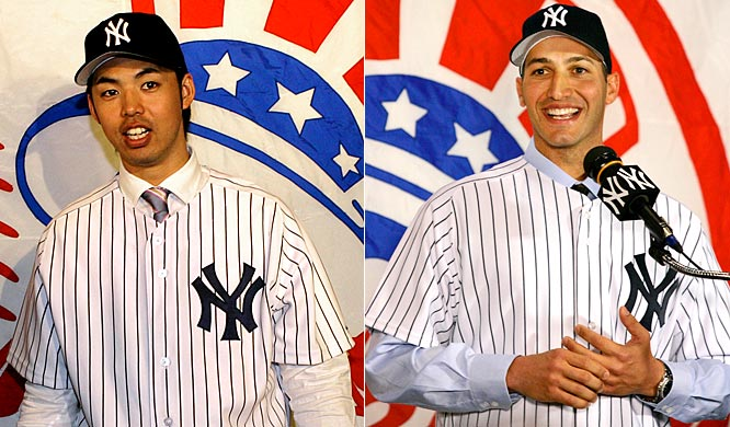 For 2007: <br>Unproven pitcher Kei Igawa is signed for five years at $20 million. Andy Pettitte returns to the scene of his former glory, with a one-year deal worth $16 million and a $16 million option for 2008.