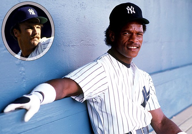 "For 1985: <br>Pitcher Ed Whitson -- manager Billy Martin's future sparring partner and boo-bird target -- is signed for five years at $4.25 million. The big fish is master basethief and egocentric malingerer Rickey Henderson, who lands a five-year deal worth $8.6 million and later reveals that ""Rickey runs when Billy tells him to runs."""