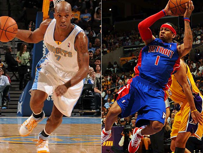Allen Iverson returns to Denver for the first time since being traded for Chauncey Billups in November. While the trade paid immediate dividends for the Nuggets, the Pistons have been up and down during their adjustment to Iverson. Detroit, though, entered the week on a hot streak, having won seven consecutive games to climb to 21-11.
