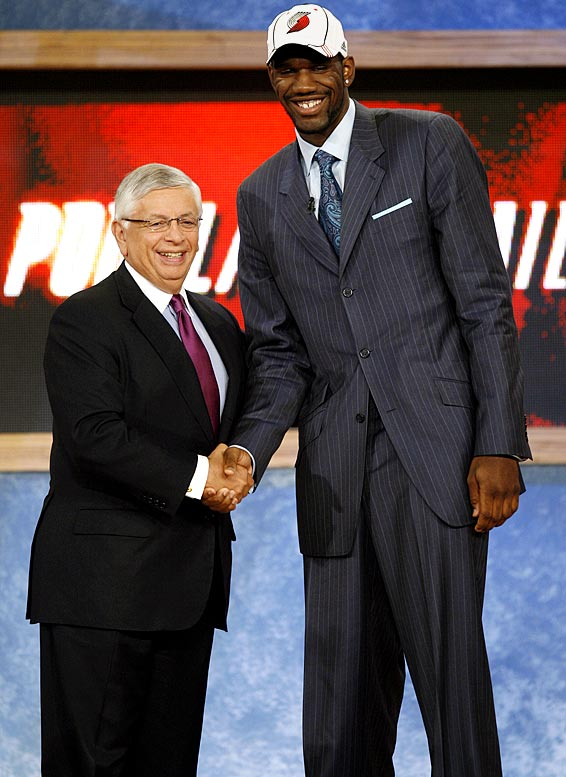 Greg Oden shook hands with Stern on draft night 2007, becoming the first player to enter the NBA after the league's new ''one-and-done'' rule requiring draft picks to be at least 19 years old and one year removed from high school.