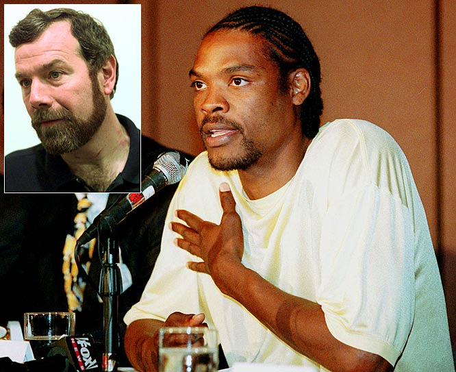 In December 1997, Stern suspended Golden State's Latrell Sprewell for one year after Sprewell choked coach P.J. Carlesimo at a Warriors practice. ''A sports league does not have to accept or condone behavior that would not be tolerated in any other segment of society,'' the commissioner reasoned. But in March 1998, an arbitrator reduced the suspension and, some say, undermined Stern's authority with sensitive labor talks looming. ''Sprewell crossed the line in his behavior,'' Atlanta center Dikembe Mutombo said. ''But so did David Stern.''