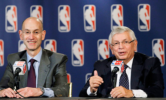 "''You'll be remembered as the best of all time,"" deputy commissioner Adam Silver (left) told Stern during a news conference to announce Stern's plans to step down on Feb. 1, 2014. Silver has been the NBA's No. 2 since 2006."