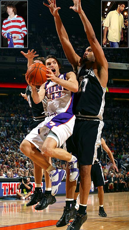 Steve Nash didn't like it, Tim Duncan called it ''a load of crap'' and other players saw a player dress code instituted before the 2005-06 season as racist and an affront to hip-hop culture. The rules -- primarily for injured or inactive players on a team's bench -- prohibited caps and retro jerseys, among other apparel choices. Stern saw it simply as a business dictating appropriate professional apparel. ''You would have thought I'd said you had to wear a tuxedo or tails to a game,'' he said.