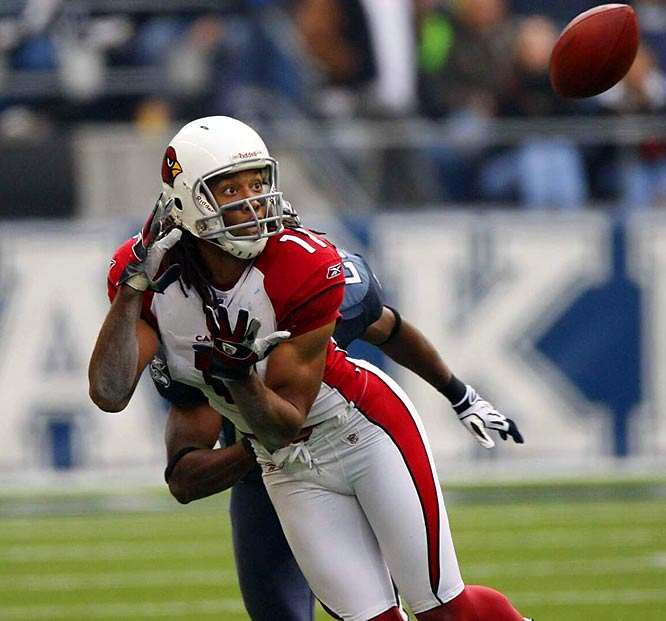 Another 300-yard game for Warner and another win for the Cardinals. Boldin and  Fitzgerald combined for 23 receptions and 337 yards in the 26-20 win -- the third time they recorded at least 100 receiving yards in the same game in 2008.
