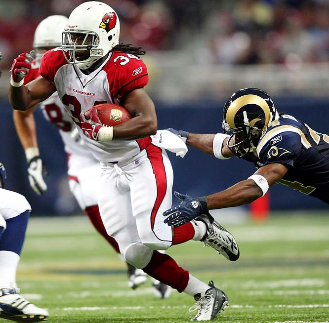 On the shoulders of another Warner gem (343 yards and two touchdowns) and Tim Hightower's biggest game of the season (109 yards and one touchdown), the Cardinals picked up a big road win, topping the Rams 34-13 in St. Louis.