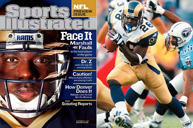 Despite missing two games due to injury, Faulk led the Rams in receptions (81), rushed for 1,359 yards, and set a new NFL record with 26 touchdowns, while also averaging 5.4 yards per carry on the season.