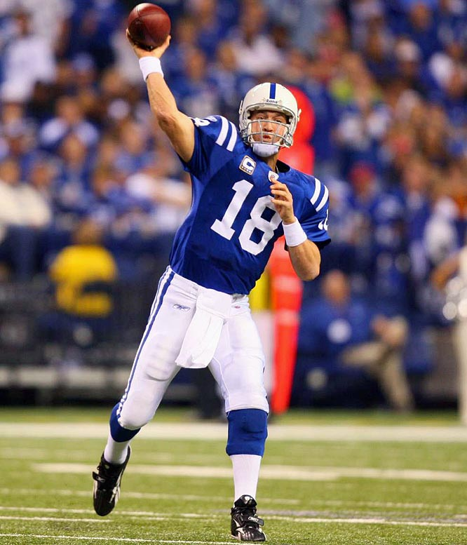 Peyton Manning joins Brett Favre as the only three-time winner of the award. Manning overcame offseason knee surgery to lead the Colts to a 12-4 record, including a nine-game winning streak to end the season.