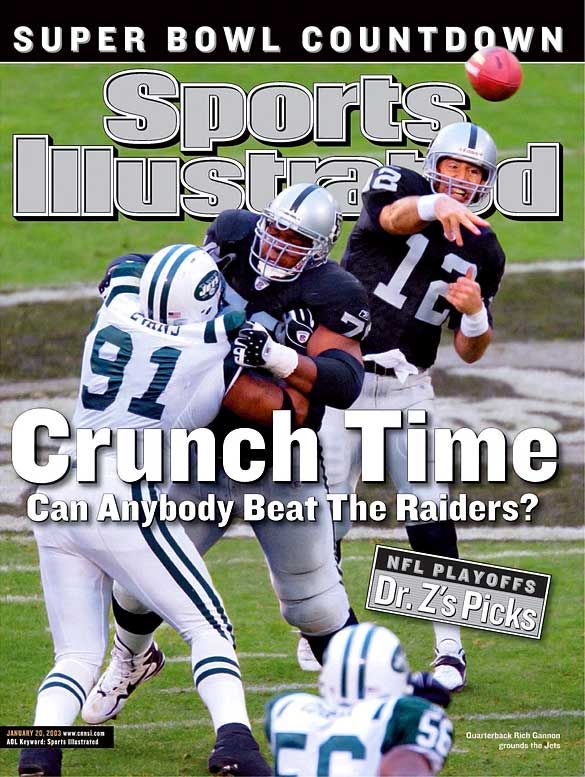 Fifteen years after breaking into the league, Rich Gannon found his greatest success in Jon Gruden's West Coast offense. Gannon led the Raiders to the Super Bowl, throwing for 4,689 yards and 26 touchdowns.