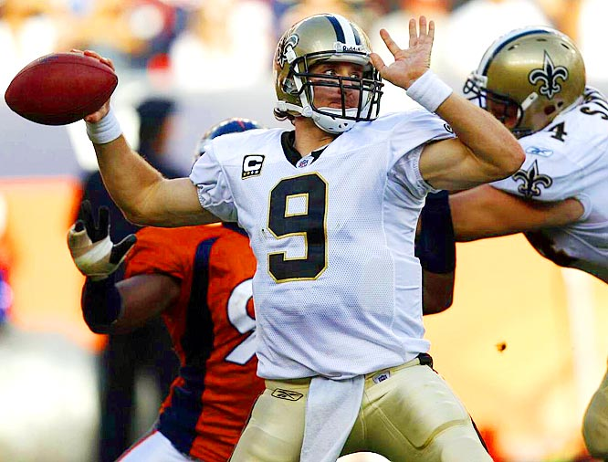 Brees chased down Dan Marino all season, coming within 16 yards of the Hall of Famer's single-season passing record. The Saints' quarterback finished the year with 5,069 passing yards, 34 touchdowns and a 96.2 passer rating.