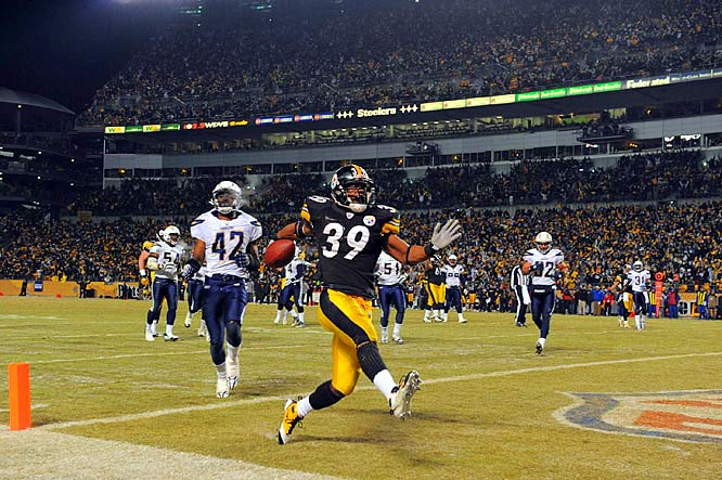 After a first round bye, the Steelers' offense came to life in a 35-24 victory over the Chargers. Parker rushed for 146 yards and two touchdowns as the Steelers advanced to their fourth AFC Championship game in 10 seasons.