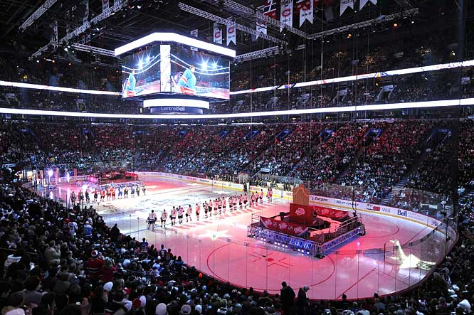 The Bell Centre, home of the Montreal Canadiens, hosted the NHL's All-Star SuperSkills competition Saturday night.