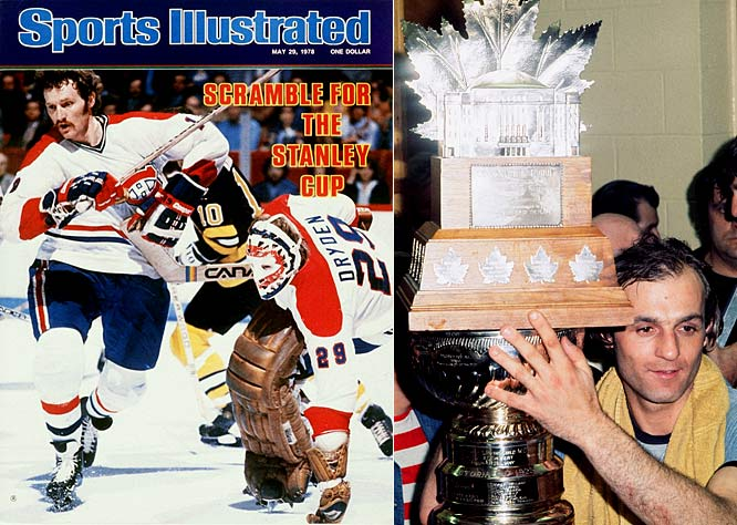 The Habs' second great dynasty -- four successive Cups -- began with Guy Lafleur's two game-winners sparking a sweep of two-time defending champion Philadelphia. The run continued with a sweep of Boston in 1977 (the Habs' sixth straight finals win over the Bruins). The 1977-78 team lost only 10 regular season games and again bounced Boston in the final. The run concluded in the Forum against the New York Rangers, the first time since 1968 that the Habs had hoisted the Cup on home ice.