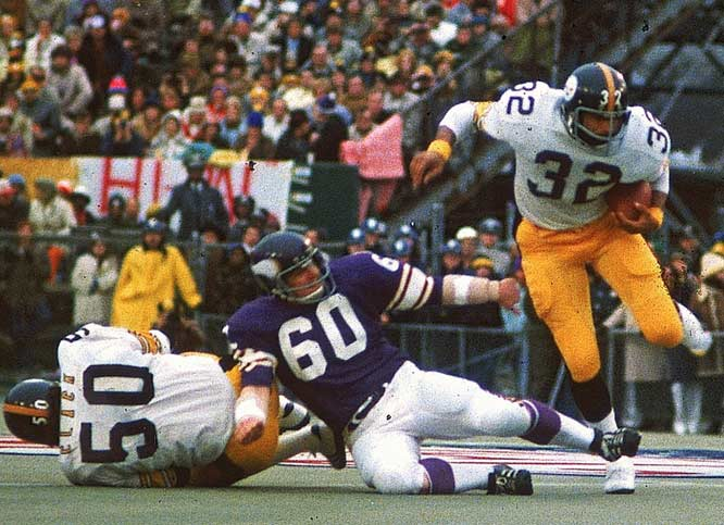 The day belonged to Franco Harris, who rushed for 158 yards and a touchdown on his way to MVP honors.