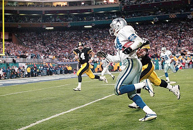 Pittsburgh got its first taste of defeat in Super Bowl XXX, falling to the Cowboys, 27-17. Dallas CB Larry Brown's two interceptions helped him earn MVP honors.