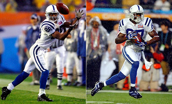 With Peyton Manning under center, his two primary targets posted nearly identical numbers in 2006. Reggie Wayne caught 86 passes for 1,310 yards and nine touchdowns, while Marvin Harrison reeled in 95 passes for 1,366 and 12 scores. In Super Bowl XLI against a stingy Chicago defense, they combined for another 120 yards and a touchdown in the Colts' win.