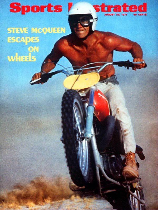 One of the top box office draws of the '60s and '70s, Steve McQueen was a car and motorcycle enthusiast who performed many of his own stunts -- especially the driving ones. An inductee into the Off-Road Sports Hall of Fame, McQueen is pictured here atop a Husqvarna dirt bike.