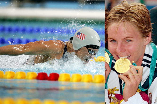 Thompson retired in 2004 as the most decorated U.S. Olympic swimmer in history, male or female. She earned 12 medals -- eight gold -- during her standout performances at the '92, '96, '00 and '04 Olympics.   Worthy of consideration: Tenley Albright, Pat Bradley, Susan Butcher, Kelly Amonte Hiller, Nancy Kerrigan and Rebecca Lobo.