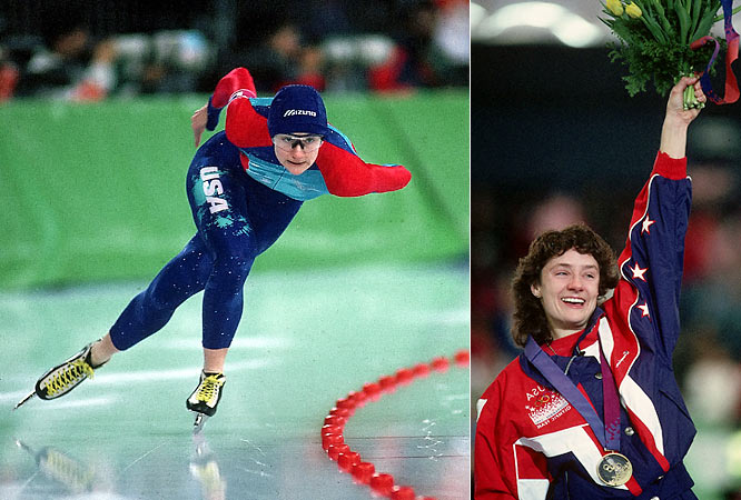 With five gold medals and one bronze in speedskating, Blair is one of the most decorated female Olympians of all time. She was the first American to win consecutive golds in three Olympics and the first to win five gold medals.  Worthy of consideration: Gertrude Ederle, Lisa Fernandez, Nancy Lieberman, Jeannette Lee, Shirley Muldowney and Abby Wambach.