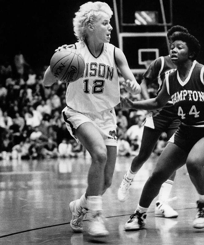 Smykowski earned All-America honors while setting North Dakota State career records for points, three-pointers and assists during a career that spanned from 1985 to '89.  Known as one of the most entertaining players in Bisons' history, she earned a spot on the 1986 NCAA all-tournament team.   Worthy of consideration: Kami Anderson, Janelle Bakken, Tanya Fischer and Sheri Kleinsasser