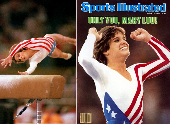 Despite being born with hip dysplasia and suffering from arthritis throughout her career, Mary Lou Retton was the first female gymnast outside of Eastern Europe to win the Olympic all-around title, doing so in 1984. She also won four additional medals in the same Olympics, including a silver in team competition and the horse, and bronze in the floor exercise and uneven bars. For her Olympic performance, she was named Sports Illustrated's ''Sportswoman of the Year'' and also was the first female to grace a Wheaties box.  Worthy of consideration: Vicky Bullett, Christy Martin and Mary Ostrowski
