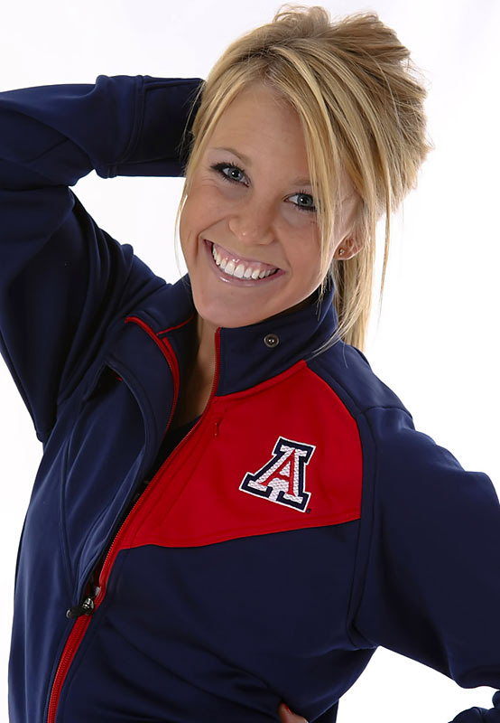 Meet Jenna, a University of Arizona senior and proud Wildcats cheerleader. Jenna, who is a big Jennifer Aniston fan, almost went to a rival school.<br><br>Want to find out more? <br><br>Click the '20 Questions' link below.