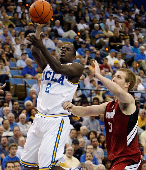 UCLA needs a win to stay on top of the Pac-10, while Arizona State is clawing its way back to No. 1.  Darren Collison (pictured) is averaging 14.6 ppg for the Bruins.
