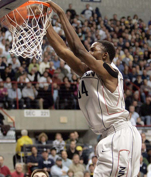 Can the Huskies escape the No. 1 curse for another week?  If they do, it will be in part thanks to their point guard rotation and the defending Big East defensive player of the year, Hasheem Thabeet (pictured).